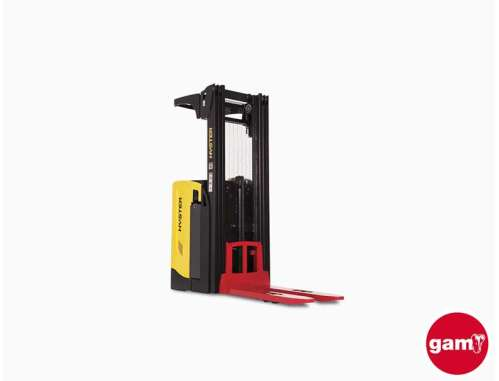 Hyster RS1.6 electric ride-on stacker