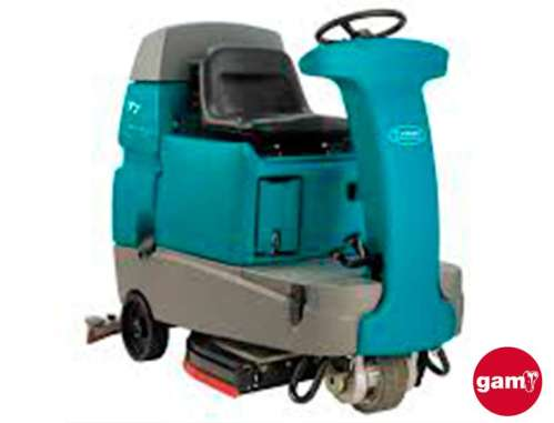 Tennant T7+ ride-on floor scrubber
