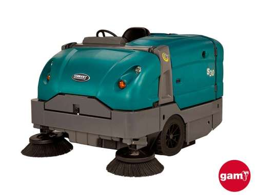 Tennant S30 mid-size ride-on sweeper