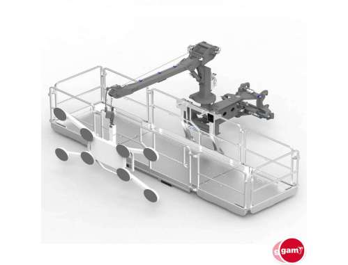 BASKET WITH GLASS ACCESORY MAGNI 500 KG